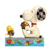Peanuts Snoopy and Woodstock with Flowers Flowers For Friends by Jim Shore Statue