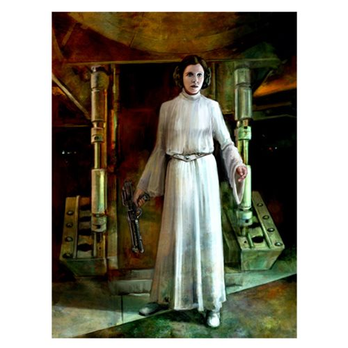 Star Wars Somebody Has to Save Our Skins by Cliff Cramp Small Canvas Giclee Art Print