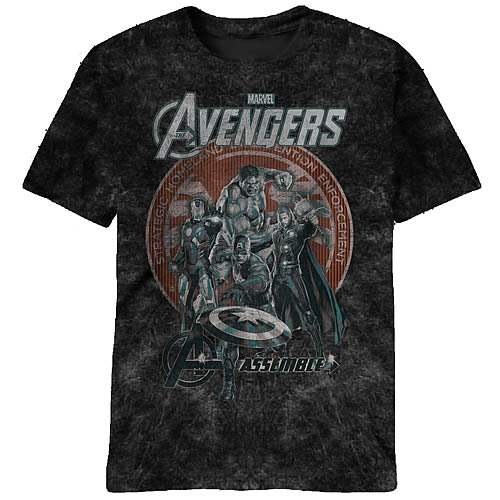 Avengers Bottle Co. Black T-Shirt