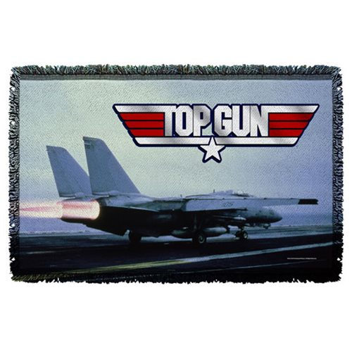 Top Gun Take Off Woven Tapestry Throw Blanket