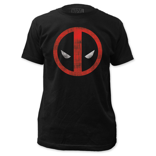 Deadpool Distressed Logo Black T-Shirt