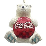 Coca-Cola Polar Bear with Coke Logo Ornament by Jim Shore
