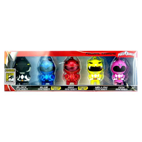 Power Rangers 3D Figural Key Chain 5-Pack - San Diego Comic-Con 2017 Exclusive