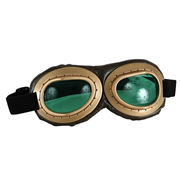 Steampunk Gold/Green Aviator Goggles