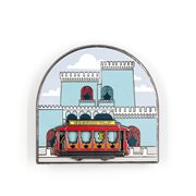 Mister Rogers' Neighborhood King Friday the XIII Castle with Slidiing Neighborhood Trolley Enamel Pin
