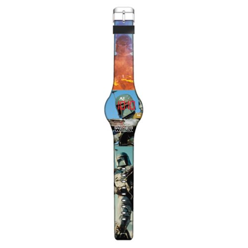 Star Wars Boba Fett Live Action Image LED Watch