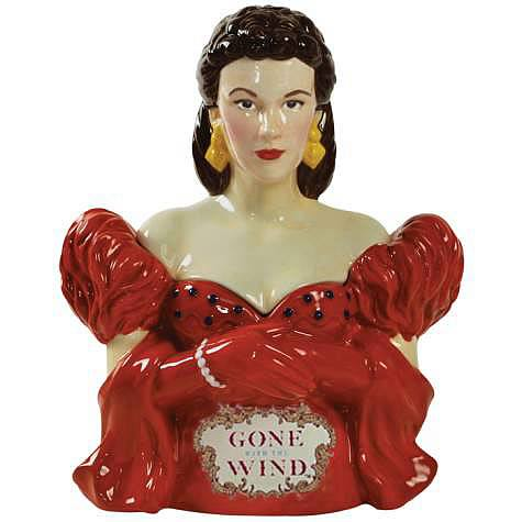 Gone with the Wind Scarlett Red Dress Cookie Jar