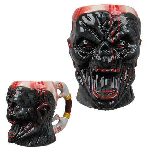 Bloody Zombie Face Molded 16 oz. Mug, Not Mint