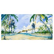 Star Wars Rogue One AT-ACT on the Shore by Kim Gromoll Canvas Giclee Art Print