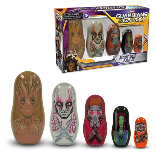 Guardians of the Galaxy Film Version Nesting Dolls