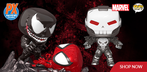 Venom and Spider Man Funko