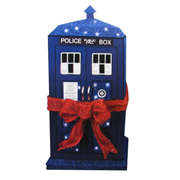 Doctor Who TARDIS 28-Inch Light-Up Tinsel Display, Not Mint