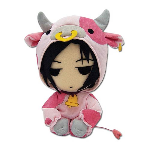 Black Butler Sebastian Michaelis Cow Cosplay Plush