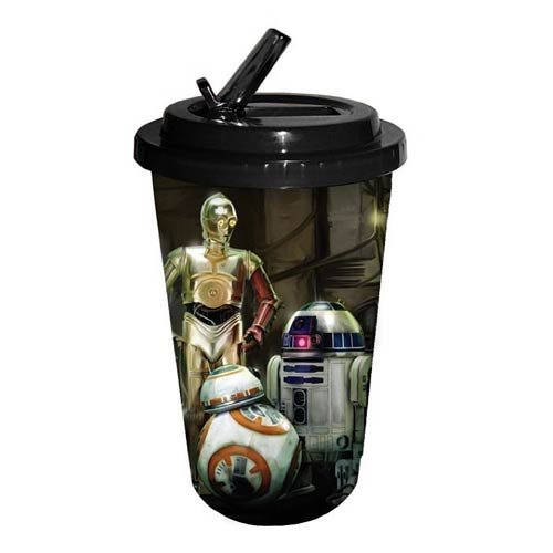 Star Wars: Episode VII - The Force Awakens The Droids 16 oz. Flip Straw Travel Cup