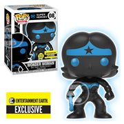 Justice League Wonder Woman Silhouette Glow-in-the-Dark Pop! Vinyl Figure - Entertainment Earth Exclusive