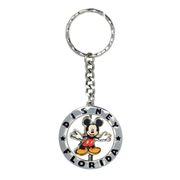 Mickey Mouse Figural Spinner Disney Florida Pewter Key Chain