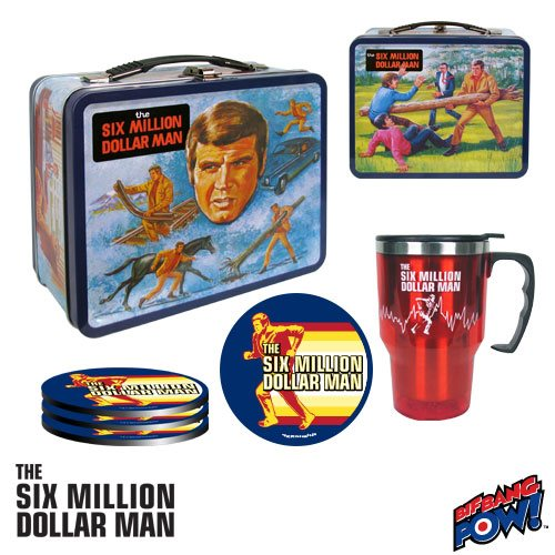 Six Million Dollar Man Retro Tin Tote Gift Set  - Convention Exclusive