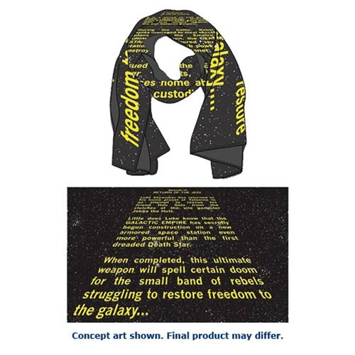 Star Wars Episode VI Return of the Jedi Opening Crawl Scarf