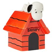 Peanuts Snoopy On Top Of Dog House Cookie Jar
