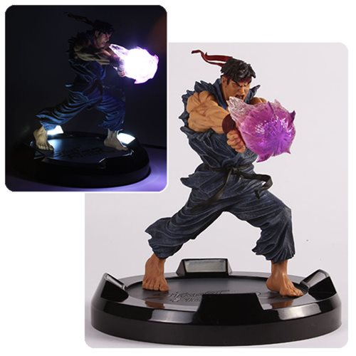 Street Fighter Evil Ryu Hadoken LED Statue, Not Mint