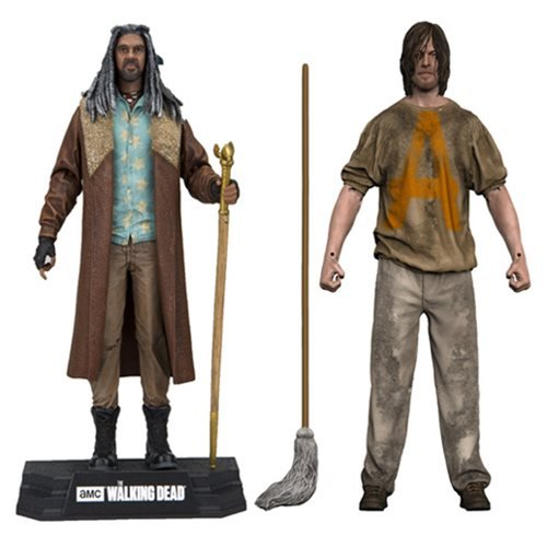 Walking Dead Ezekiel and Savior Prisoner Daryl Figure Set