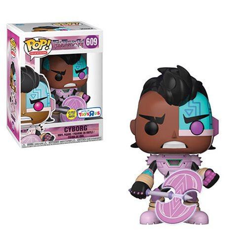 Teen Titans GO! The Night Begins to Shine Cyborg with Axe Glow-In-The-Dark Pop! Vinyl Figure - Exclusive
