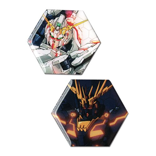 Gundam UC Unicorn Gundam and Banshee Pin Set