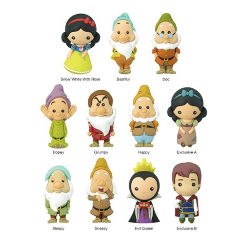 Snow White 3D Figural Key Chain Random 6-Pack