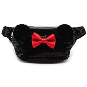 Minnie Mouse Black Sequin Fanny Pack