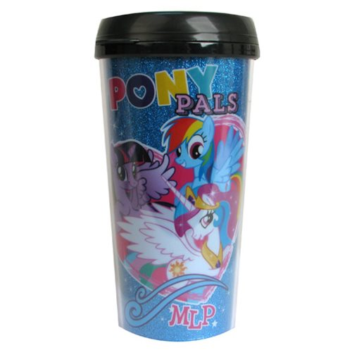My Little Pony: Friendship is Magic Pony Pals Glitter 16 oz. Plastic Travel Mug