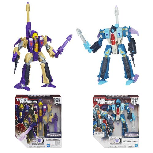 Transformers Generations Voyager Doubledealer and Blitzwing