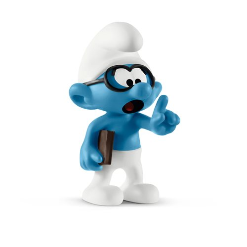 Smurfs Brainy Smurf Collectible Figure