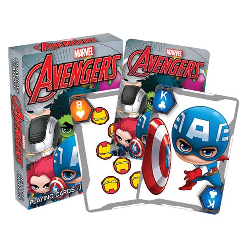 Marvel Avengers Chibi Character Playing Cards
