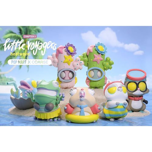Little Voyagers Heatwave Mini Series by Coarse Random Blind Box Vinyl Figure 6-Piece Display Tray