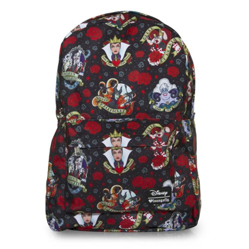 Disney Villains Tattoo Print Backpack