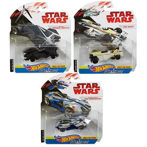 Star Wars The Last Jedi Hot Wheels Carships 2018 Wave 3 Set