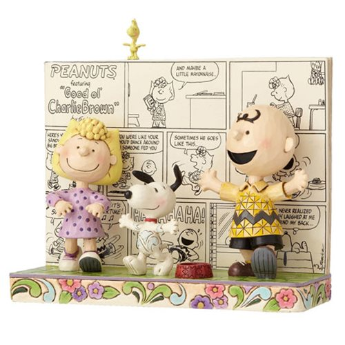 Peanuts Jim Shore Peanuts Comics Happy Dance Statue