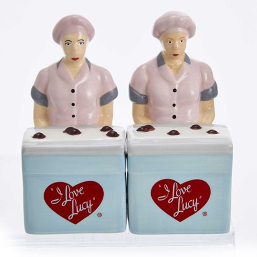 I Love Lucy Chocolate Factory Salt and Pepper Shaker Set