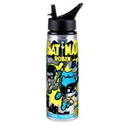 Batman and Robin Comic Water Bottle