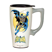 Batman White 18 oz. Ceramic Travel Mug with Handle