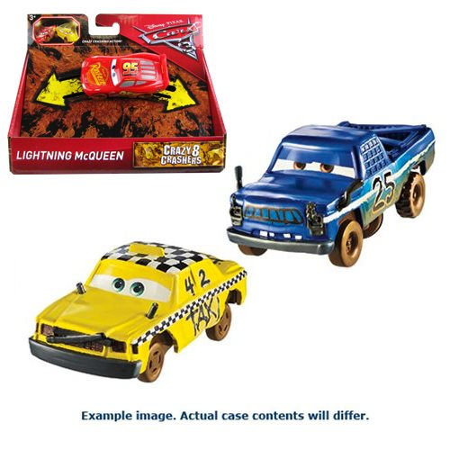 Cars 3 Bumper Basher Singles 1:55 Scale Vehicle Case