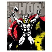 Thor Color Splat Canvas Print