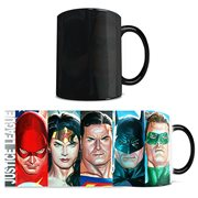 Justice League by Alex Ross DC Comics Color-Change Morphing Mug