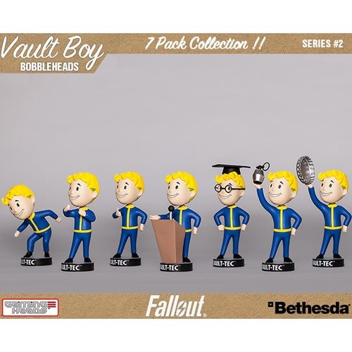 Fallout 4 Vault Boy 111 5-Inch Bobble Head Ser. 2 7-Pack Set