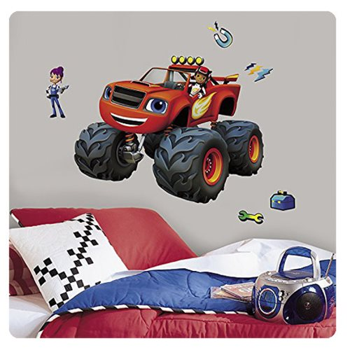 Blaze and the Monster Machines AJ and Gabby Peel and Stick Giant Wall Decals