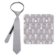 Star Wars Darth Vader Dot Gray Boys Zipper Silk Tie