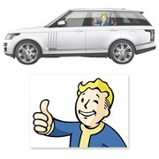 Fallout 4 Vault Boy Thumbs Up Passenger Series Driver's Side Car Decal