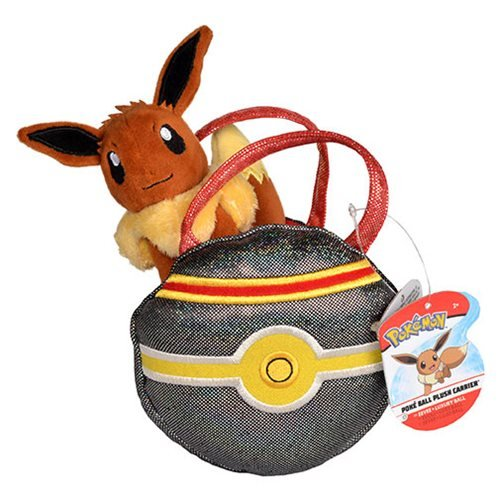 Pokemon Eevee and Luxury Ball Poke Ball Plush Carrier Purse