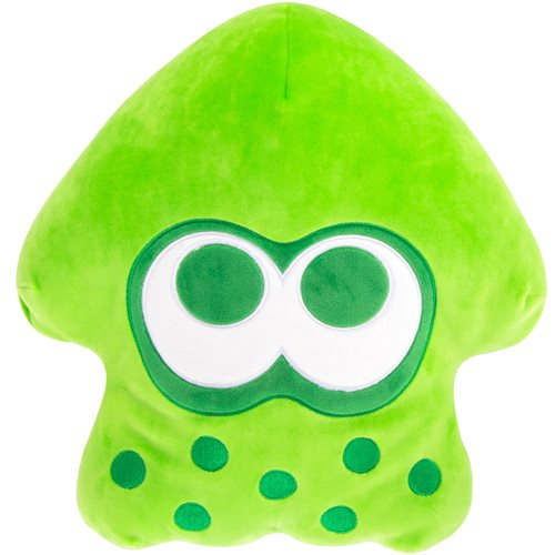 Club Mocchi Mocchi Splatoon 2 Mega Neon Green Squid 15-Inch Plush