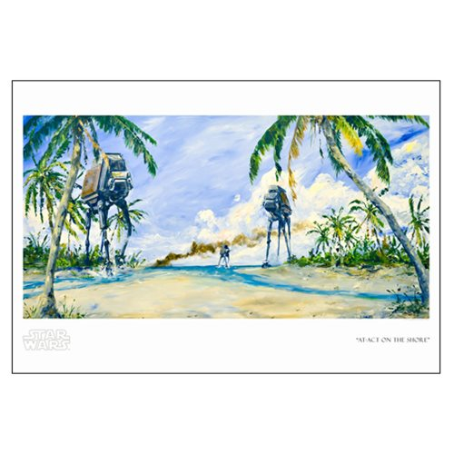 Star Wars AT-ACT on the Shore by Kim Gromoll Paper Giclee Art Print